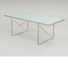 IKEA Moment glasbord 200x 85cm. Højde 72cm. Alu/ frosset glasplade. Design Niels Gammelgaard for Ikea 1980. (MOM-149). Spisebord, arbejdsbord eller skrivebord. Intakt frostet glasplade, pænt og velholdt.  En smule rustpletter på det ene ben, men de kan måske pudses væk. Skal afhentes i Vejle.  Bord Farve: Ukendt