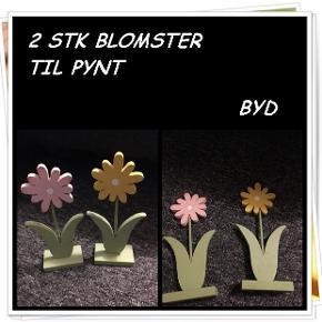 2 stk blomster til pynt byd