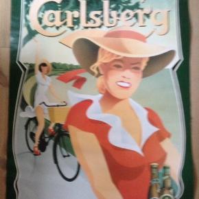Carlsberg plakat i glas og ramme.  I rigtig fin stand.  99 x 70 cm.  Uden ramme 200 kr.