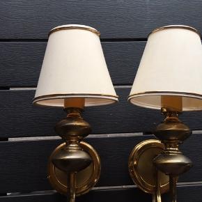 2 væg lamper i messing