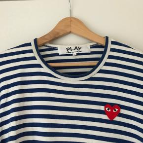 Play Striped T-shirt fra Comme des Garcons PLAY 100 % bomuld Ny pris 1.000 Unisex