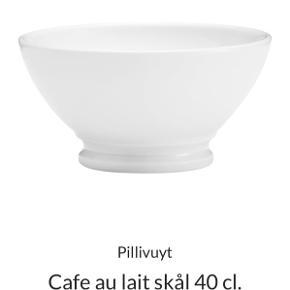 Cafe au lait skåle- 6 stk Ikke brugt ret meget - i flot stand  Samlet 400 kr