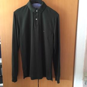 Str. M Regular fit Tommy Hilfiger Green Polo  Vasket og brugt 1 gang