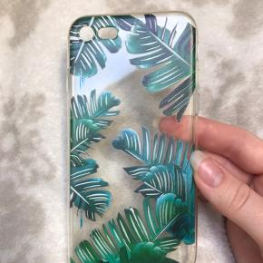 Gennemsigtigt palmecover til IPhone 7/8. Modtaget nyt med lidt blå streger indvendigt