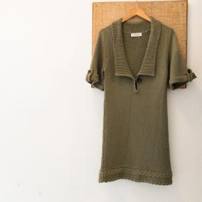 Månestråle strikkjole/lang sweater i blød uld