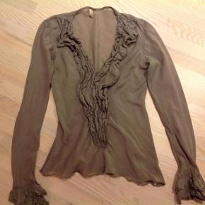 Smuk og elegant bluse i silke og bomuld
