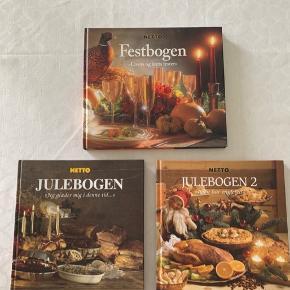 Netto Festbogen, Julebogen og Julebogen 2. Fremstår som næsten nye. Sælges for 20 kr. pr. stk. eller samlet for 50 kr. Kan sendes for 39 eller 53 kr. afhængig af antal/vægt.