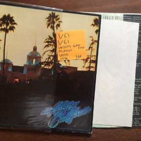 Eagles hotel California vinyl lp plade fra USA med insert og plakat lpplade med hits