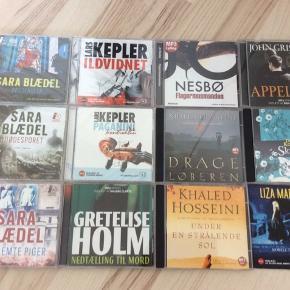 12 forskellige lydbøger sælges samlet! 5 stadig i emballage og en stor del er aldrig hørt...