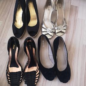 0f06ed85aea2 Str. 39. Fra 40 kr. Guld sandal Mary B m. Lille flænge på 1.cm