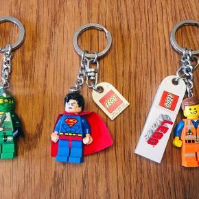 Fine LEGO nøgleringe; Superman, LEGO movie emmett, ninjago   30kr pr stk