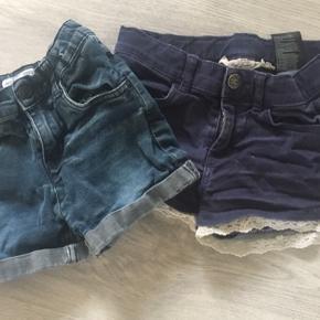 2 par denim shorts str. 122/128 i fin stand.  Sælges samlet for 40 kr.