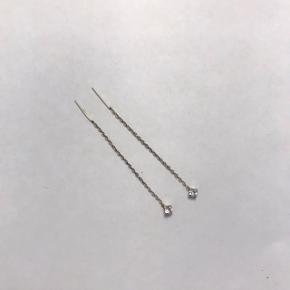 Ørering, Næsten som ny. Køge - Kæde øreringe ægte sølv. Ørering, Køge. Næsten som ny, Brugt og vasket et par gange men uden mærker eller skader
