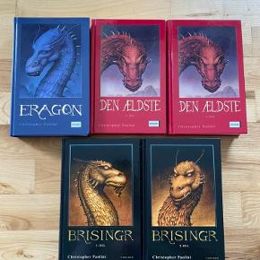 1 Eragon  2 den Ældste 1+2 3 Brisingr 1+2 Af Christopher Paolini  Læst en gang og standen er som ny  Bøger i HB  Køber betaler fragt  Bytter ikke