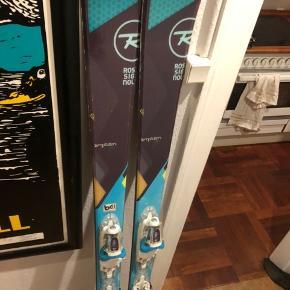 rossignol temptation. 71 ski med rossignol bindinger, som er super nemme at tilpasse.  1.65 cm.  Passer til en højde mellem 160-175 og alle str sko.
