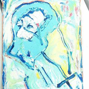 Billede malet på lærrede 30 x 30 cm