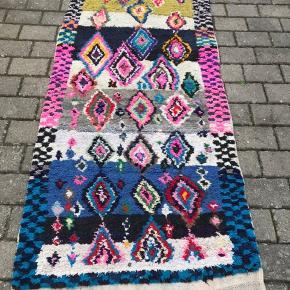 Smuk håndlavet marrokansk tæppe Måler 240x90