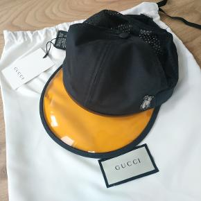 Helt nye Gucci Embroidered Cotton-Twill and Mesh Baseball Cap Black - size M