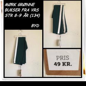 Mørk grønne bukser fra vrs str 8-9 år nyt byd