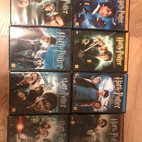 Jeg sælger Harry Potter film 1 til 7 del 2. Alle film er dvd, og ingen skade taget.   Skriv gerne for interesse/spørgsmål.