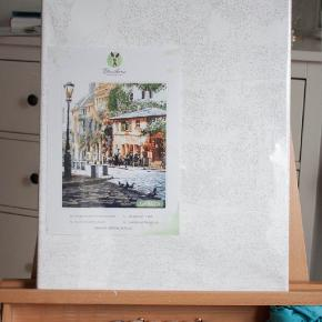 Painting by numbers for adults and kids. Beautiful street.  Once you open the box you are ready for painting. No additional instruments or special skills needed. You get everything you need.Using this set you can feel yourself a real artist, discover your hidden talents.  This set is a perfect gift, no matter age, sex or profession. Painting by numbers develop concentration and can help to take your mind off busy days. :) SIze: 40x50