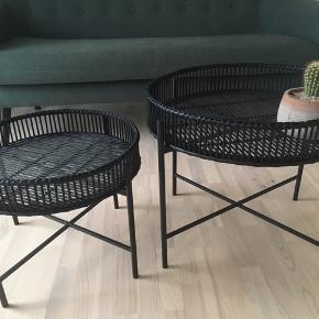 Sorte bambus bakkeborde Mål i diameter: stor 60 og lille 49 cm