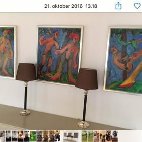3 stk. Adam og Eva malerier med rammer. 60x70. Nypris 6.000. Kan afhentes i Charlottenlund.