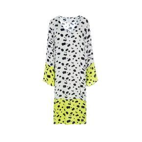 Hosbjerg Olga kjole   Dalmatiner / pletter / grøn / hvid