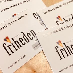 AARHUS 10 styk billetter til gratis entré i Tivoli Friheden (dog ikke om fredagen) Gyldige til 01.10.2019 200kr inkl Porto for de 10 vouchere