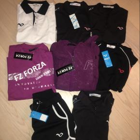 Reeact og Forza helt nye trøjer og t-shirts mange stadig med mærke. 50kr/stk.