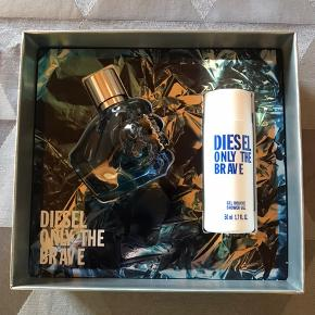 Diesel Only the brave  Helt ny og i gaveæske 35 ml EDT og 50 ml showergel