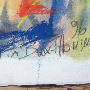 Originalt, abstrakt værk af Pia Brix-Thomsen (uddannet 1992 på Det Fynske Kunstakademi)  Akvarel/oliekridt på kraftigt kvalitets-akvarelpapir  Maleriet er i fin stand og farverne er flotte, mættede og klare. For nylig gik dets ramme i stykker, så derfor sælges det uden.  P. B-Thomsen har udstillet på utallige udstillinger i hele verden med hendes farvemættede abstrakte værker, og hun er kendt for hendes talent for lys og dybde. Hun er stadig udøvende kunstner.  56×76  HUSK AT BUD ER BINDENDE 🌺  Skal afhentes på Frederiksberg, da jeg ikke nænner at rulle og sende det. Kan evt leveres i hovedstadsområdet