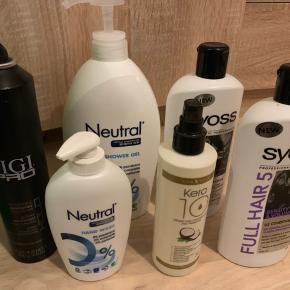 🦚produkt pakke🦚  En masse produkter jeg ikke selv får brugt. Nogle er helt nye ☀️  Prisen er for hele pakken! Sender gerne ☀️