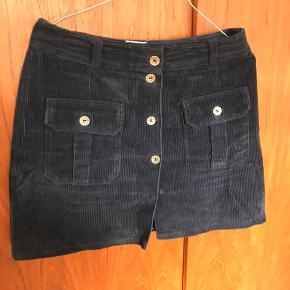 Vintage velour nederdel