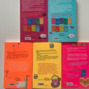 Nr. 1 - Fyre & flammer og oppustelige bh'er  Nr. 5 - Fyre & flammer single for en sommer Nr. 6 - Fyre & flammer og frygtelige fejltagelser  Nr. 9 - Fyre & flammer og en flirt i Firenze  Nr. 10 - Fyre & flammer og chokoladechok  Forfatter: Cathy Hopkins Forlag: Gyldendal  Sælges kun samlet til prisen.   Sender gerne, køber betaler for porto.  Vægt: 632g Porto: 39kr med Dao