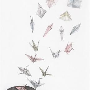 """Brand: Lene Rix Varetype: """"Wings Unfold"""" Plakat, Illustration, Kunstprint Størrelse: 21X30 Farve: Råhvid Denne vare er designet af mig selv.  Kunstprint af blyant og akvarel illustration. Trykt på mat 200 g. syrefrit luksuspapir. Fås i tre størrelser, nummereret og signeret i et begrænset oplag på 100-150 stk. Priser som følger:  21X30 cm.: 250 kr. 30X40 cm.: 400 kr. 50X70 cm.: 600 kr.  Se også mine andre print og A5 kunstkort på min profil."""