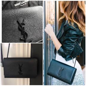 Smuk taske fra Saint Laurent / YSL i modellen Kate str Medium, i limited edition med Black hardware.  Der medfølger dustbag. Kvittering og æske haves ikke, da tasken er købt i NY.