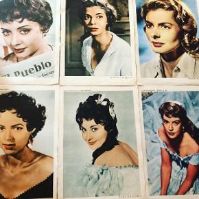 Gamle / retro samle billeder fra blade pr str 50kr