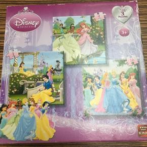 3 i 1 puslespil med de forskellige Disney prinsesser. Afh i Sønderris