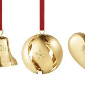 Ny æske med 3 jule uroer Ornamenter 2019