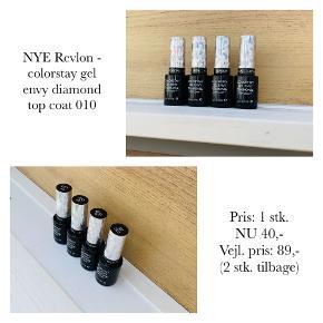NYE Revlon - colorstay gel envy diamond top coat 010  Pris: 1 stk. NU 40,-  Vejl. pris: 89,- (2 stk. tilbage)   Se også over 200 andre nye produkter, som jeg har til salg herinde :-)