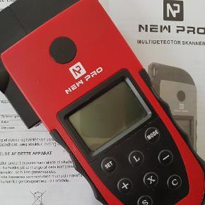 New Pro Multidetector laser afstandsmåler, metal - m.m Aldrig brugt. Blot studeret manualen (...er kaffeplet på manualen ☕(