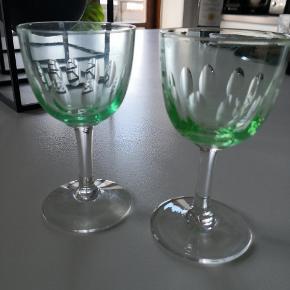 Holmegaard glas. 8 stk haves. Højde 11.5, dia 6 cm. Prisen er pr stk og pp