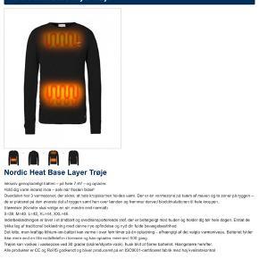 Nordic Heat base layer trøje i str S. Den er kun prøvet på.  Pris 850kr