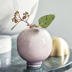 Kähler Unico vase i lyserød / rosa keramik 🌺  12,5 cm høj  Designet af den danske keramiker Anders Arhøj 🌺