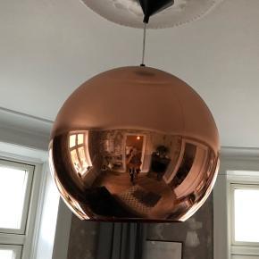 Tom dixons kobber lampe med original ledning.