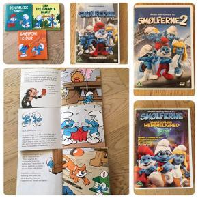 Sælger denne Smølfe-pakke bestående af DVD-film, mini-bøger, fleecetæppe, Smølfine-bamse og Smølfine-håndklæde. DVD-filmene er Smølferne 1, Smølferne 2, Smølferne: Smølfedalens hemmelighed. Mini-bøger er Den falske smølf, Den spejlvendte smølf og Smølfoni i C-dur. Str på fleecetæppe: 140x110. Str. på håndklæde: 122x68. DVD'erne og bøgerne er som nye, bamsen, fleecetæppe og håndklæde er brugt men fin. Kommer fra et ikke ryger hjem. Kan afhentes i 2990 Nivå eller sendes mod betaling