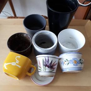 Forskellige potteskjulere kan afhentes samlet