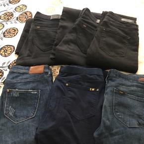 3 pairs of Lee jeans, 2 from hm and 1 from Zara. Fit w29. There is more info under individual listings or 350 for all.