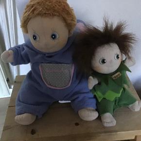 2 Rubens barn dukker. Sælges samlet. Håndlavede dukker, kan vaskes i maskine og tørres i trusler.
